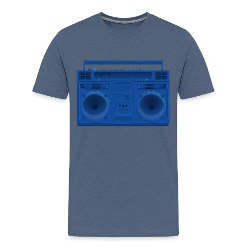 Bestes Stereo blau Design online - Teenager Premium T-Shirt