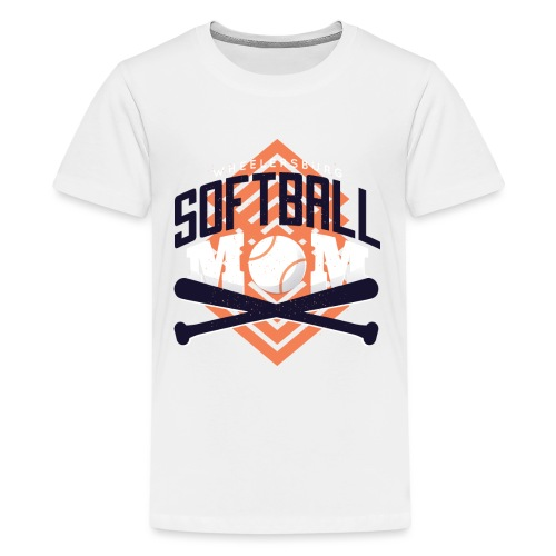 Bestes Softball Mamma Design - Teenager Premium T-Shirt