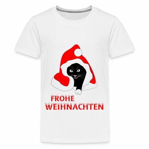 Frohe Weihnachten - Schwarze Katze - T-shirt Premium Ado