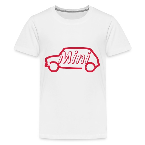 mini outline single colour - Teenage Premium T-Shirt
