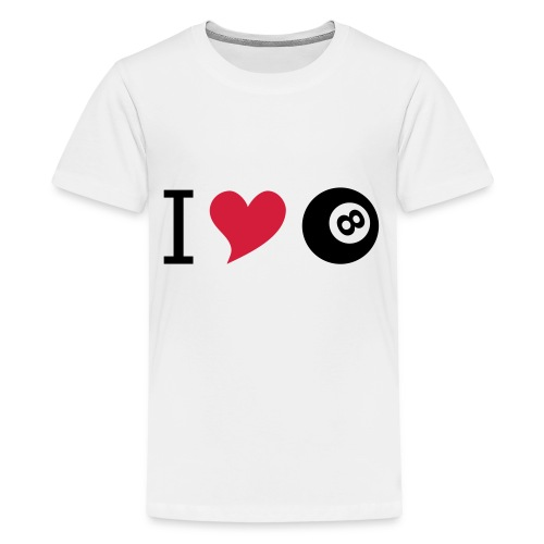 I love billard - Teenager Premium T-Shirt