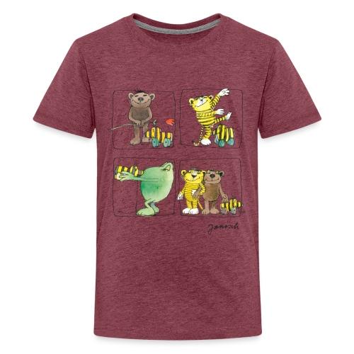Janosch Tiger Und Freunde Das Leben Ist Schön - Teenager Premium T-Shirt