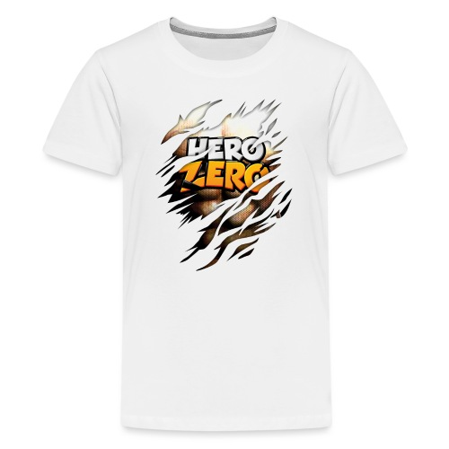 Hero Zero Brown Bright - Teenage Premium T-Shirt