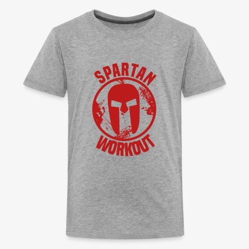Spartan Workout - Teenage Premium T-Shirt