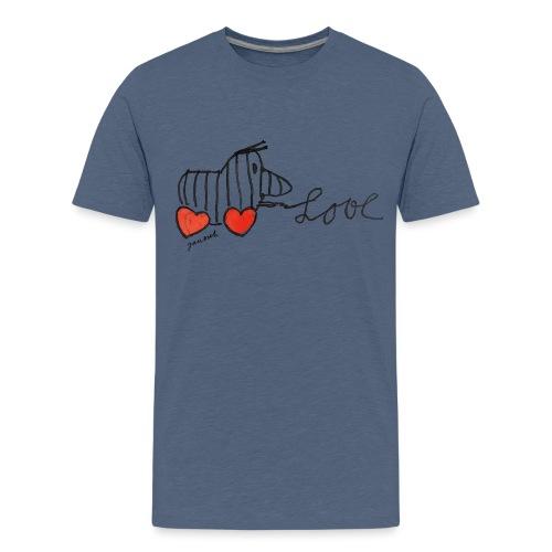 Janosch Tigerente Love Schriftzug - Teenager Premium T-Shirt