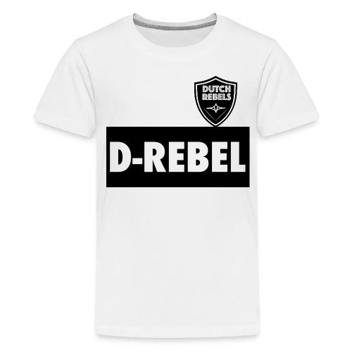 DREBEL SIDE AND STICKER - Teenager Premium T-shirt