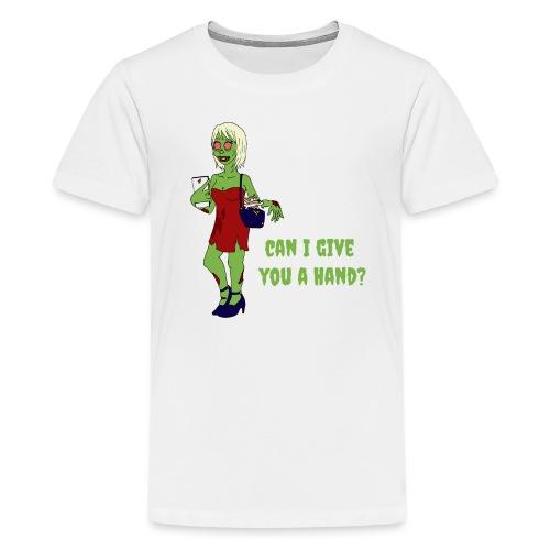 give a hand - Teenage Premium T-Shirt