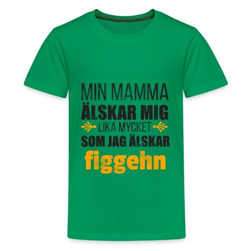 Min mamma älskar mig - Premium-T-shirt tonåring