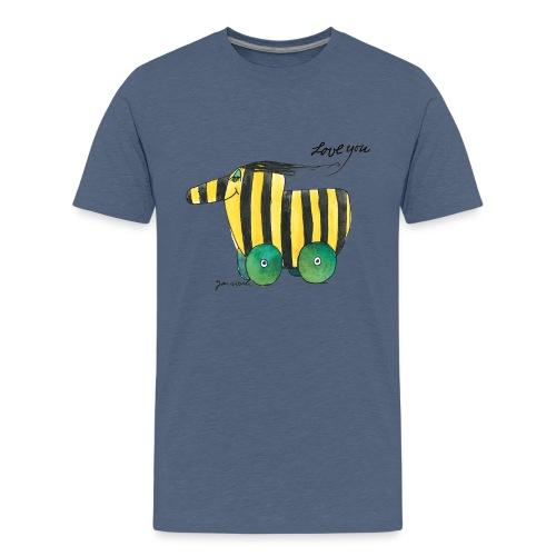 Janosch Tigerente Love you - Teenager Premium T-Shirt