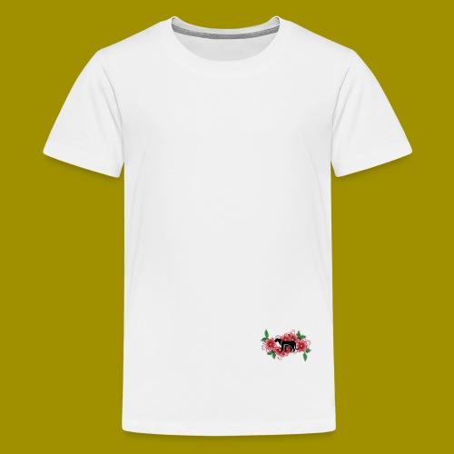 Sakura Leafs, Flowers and Black Tiger Avatar - Teenage Premium T-Shirt