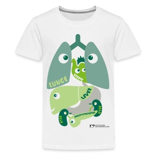 SO logo liggende sort - Premium T-skjorte for tenåringer