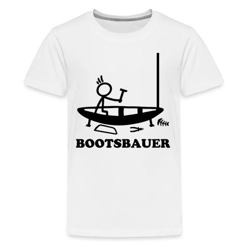 Bootsbauer - Strichmännchen - Teenager Premium T-Shirt