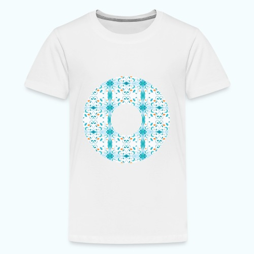 Hippie flowers donut - Teenage Premium T-Shirt