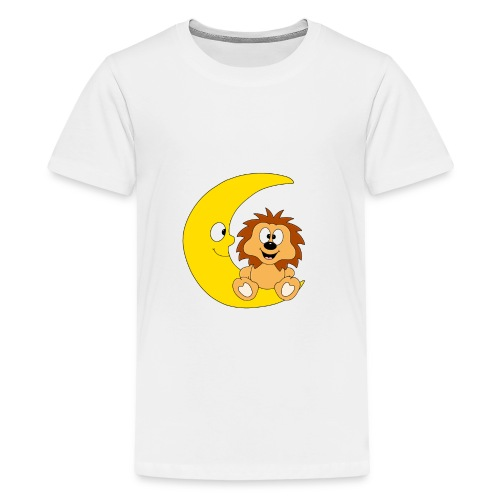 Lustiger Igel - Mond - Kinder - Baby - Fun - Teenager Premium T-Shirt
