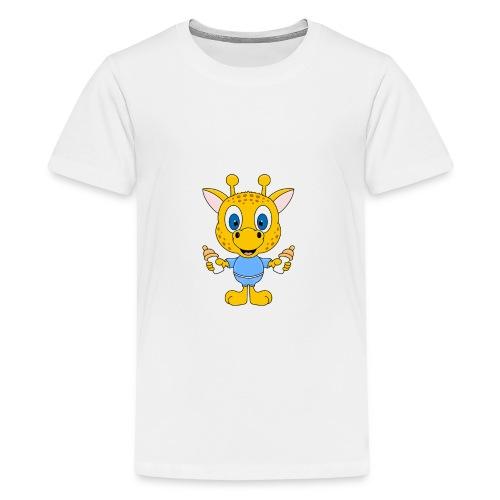 Lustige Giraffe - Baby - Geburt - Tier - Milch - Teenager Premium T-Shirt