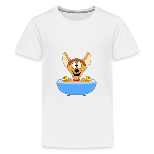 Lustige Hyäne - Badewanne - Kinder - Baby - Fun - Teenager Premium T-Shirt