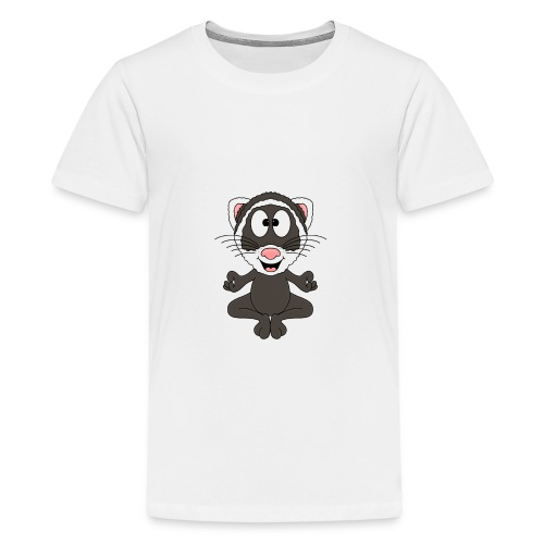 Lustiges Frettchen - Yoga - Relax - Chill - Fun - Teenager Premium T-Shirt