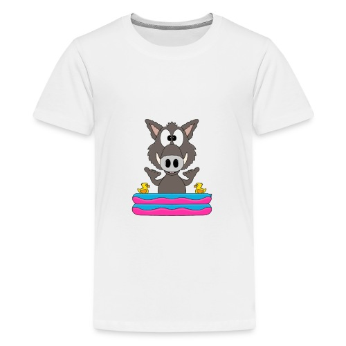 Lustiges Wildschwein - Planschbecken - Shaka - Fun - Teenager Premium T-Shirt