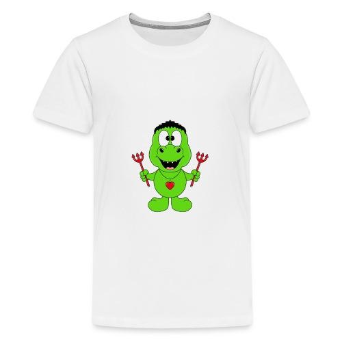 Lustiger Dino - Dinosaurier - Teufel - Kids - Baby - Teenager Premium T-Shirt