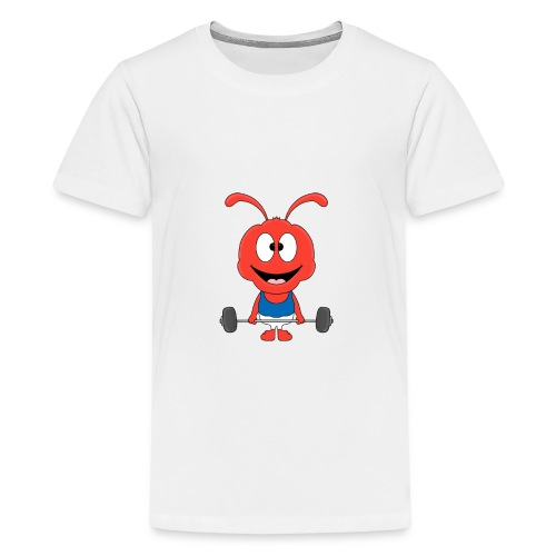 Lustige Ameise - Ant - Fitness - Sport - Fun - Teenager Premium T-Shirt