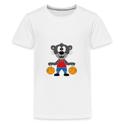 Lustiger Panther - Basketball - Sport - Tier - Fun - Teenager Premium T-Shirt