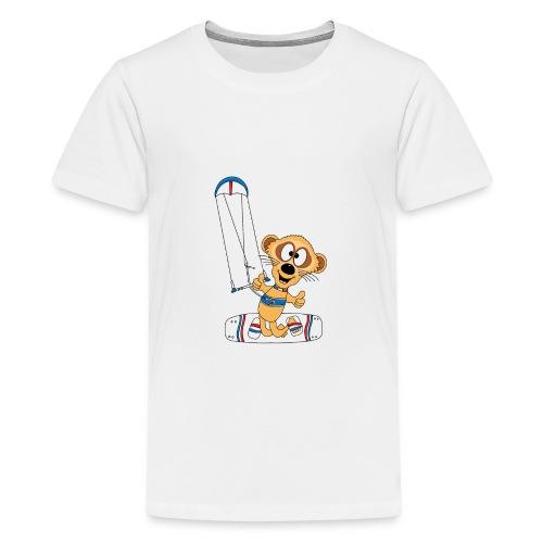 Lustiges Erdmännchen - Kite - Kitesurf - Kiter - Teenager Premium T-Shirt