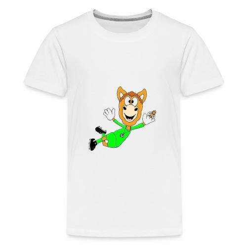 Lustiges Pferd - Fußball - Torwart - Fliegenfänger - Teenager Premium T-Shirt