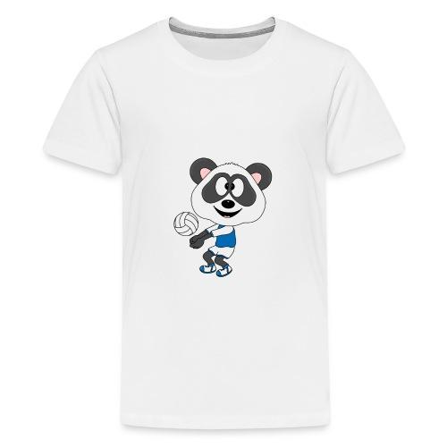 Lustiger Panda - Bär - Volleyball - Sport - Fun - Teenager Premium T-Shirt