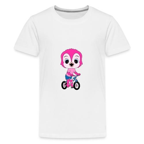 Lustige Eule - Fahrrad - Sport - Kind - Baby - Teenager Premium T-Shirt