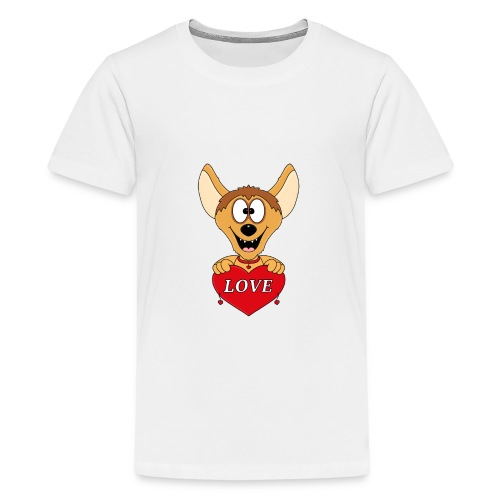 Lustige Hyäne - Herz - Liebe - Love - Tier - Fun - Teenager Premium T-Shirt
