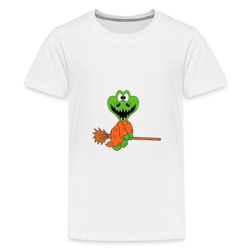 Lustiges Krokodil - Hexe - Kind - Baby - Fun - Teenager Premium T-Shirt