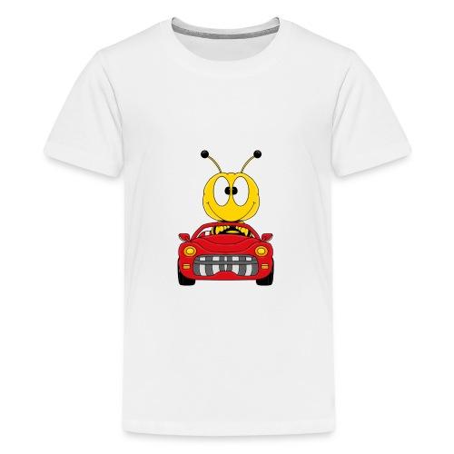 Lustige Biene - Auto - Cabrio - Tier - Fun - Teenager Premium T-Shirt