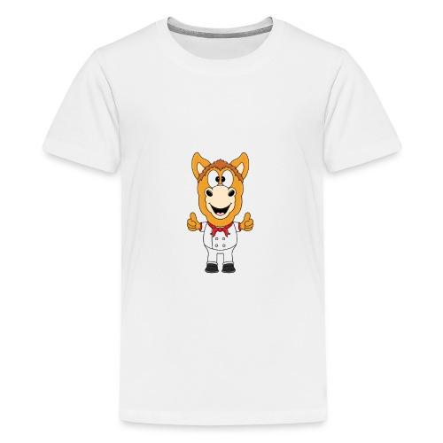 Lustiges Pferd - Pony - Bäcker - Koch - Fun - Teenager Premium T-Shirt