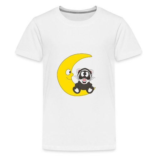 Lustiges Frettchen - Mond - Kind - Baby - Fun - Teenager Premium T-Shirt