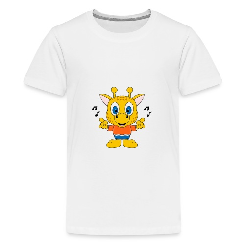 Lustige Giraffe - Musik - Tier - Kind - Baby - Fun - Teenager Premium T-Shirt