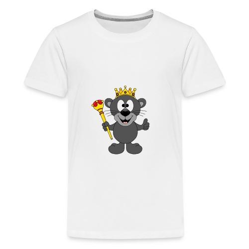 Lustiger Panther - König - Königin - Tier - Kind - Teenager Premium T-Shirt