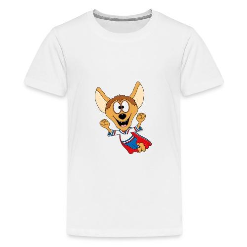 Lustige Hyäne - Superheld - Kind - Baby - Tier - Teenager Premium T-Shirt