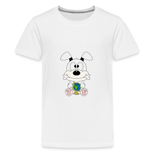 Hund - Erde - Welt - Globus - Tier - Kind - Baby - Teenager Premium T-Shirt