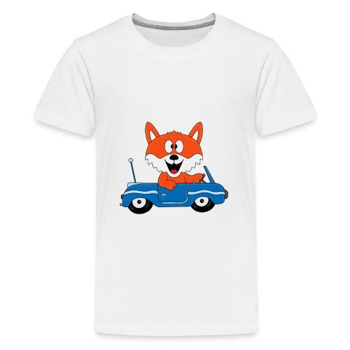 Fuchs - Auto - Cabrio - Tier - Führerschein - Fun - Teenager Premium T-Shirt