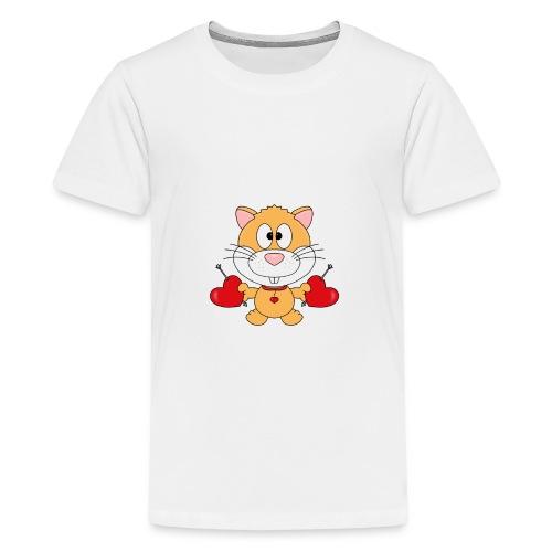 Hamster - Herzen - Liebe - Love - Kind - Baby - Teenager Premium T-Shirt