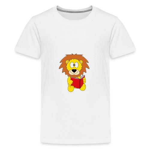 Löwe - Buch - Lesen - Geschichte - Kind - Tier - Teenager Premium T-Shirt