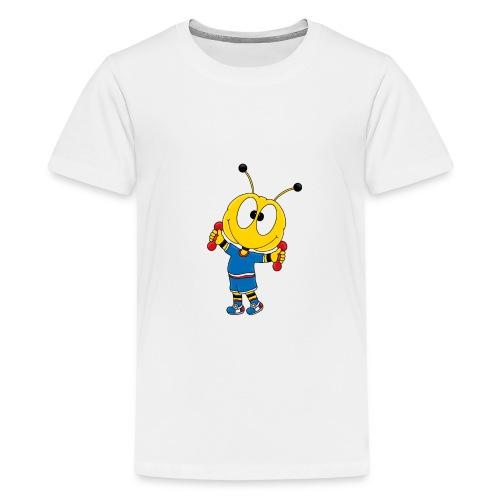 Biene - Fitness - Handeln - Muskeln - Sport - Teenager Premium T-Shirt