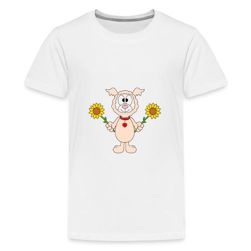 Lama - Alpaka - Sonnenblumen - Tier - Liebe - Teenager Premium T-Shirt