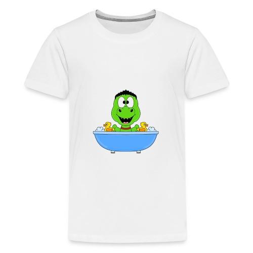 Dinosaurier - Badewanne - Kind - Baby - Fun - Teenager Premium T-Shirt