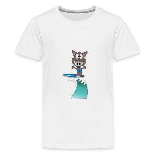 Wildschwein - Welle - Surfer - Wellenreiter - Teenager Premium T-Shirt