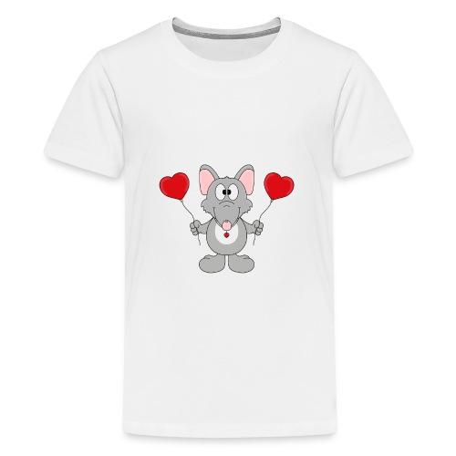 Ratte - Herzen - Luftballons - Geschenk - Tier - Teenager Premium T-Shirt
