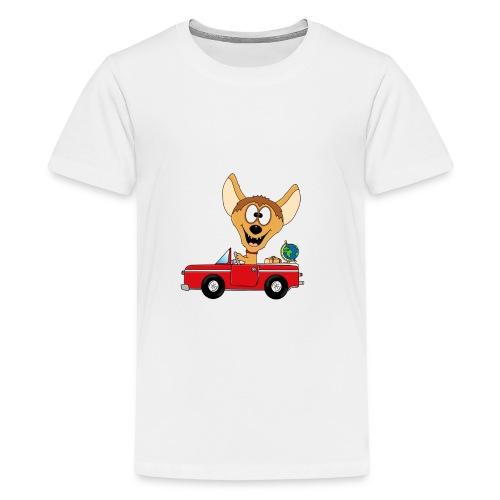 Hyäne - Auto - Reise - Urlaub - Tierisch - Fun - Teenager Premium T-Shirt