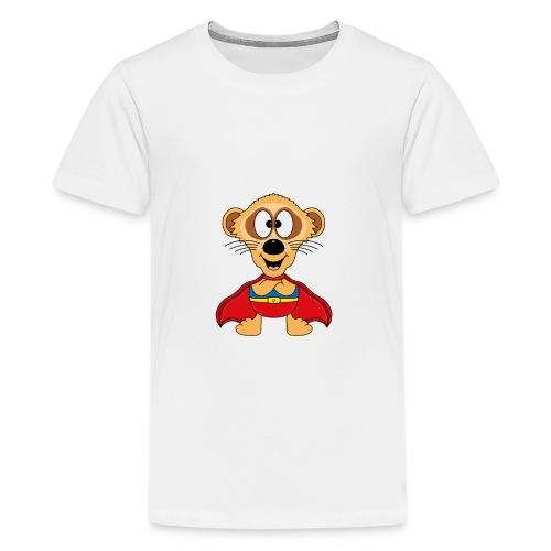 Erdmännchen - Superheld - Kind - Baby - Tier - Teenager Premium T-Shirt