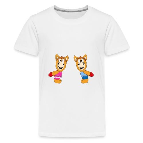 Pferde - Ponys - Reiten - Herzen - Liebe - Love - Teenager Premium T-Shirt