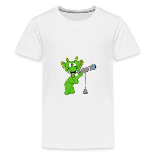 Drache - Teleskop - Astronom - Sterne - Kinder - Teenager Premium T-Shirt